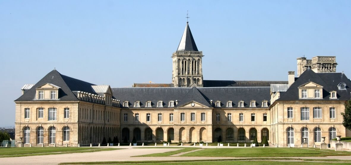 the abbaye aux dames in Caen